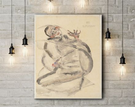 Egon Schiele: I Will Gladly Endure for Art and My Loved Ones. Fine Art Canvas.